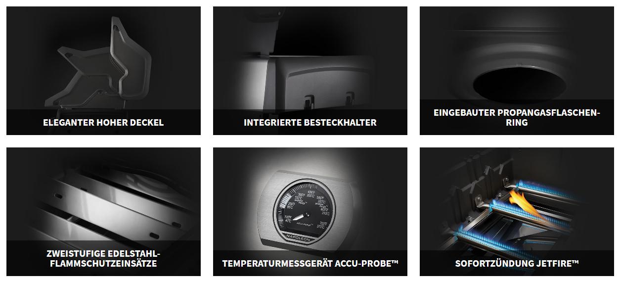 Napoleongrill Edelstahl Rogue® SE 625 RSIB mit Infrarot-Seiten- und -Rückbrennern