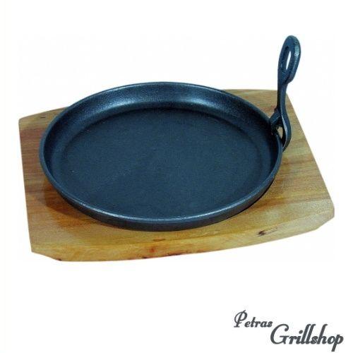 Servierpfanne rund schwarz, Durchmesser 22 cm
