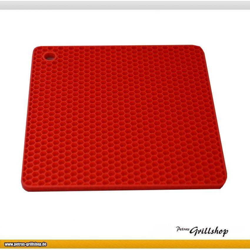 Silikonuntersetzer quatratisch Wabe / Rot