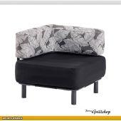 Element 1 Black / Palm Charcoal - Lounge-Sessel für Innen & Aussen