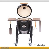 Monolith Kamadogrill Classic PRO-Serie 1.0 BLACK incl. Gestell & Seitentischen