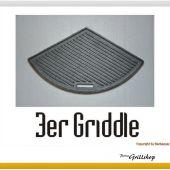 Grillplatte aus Gusseisen  3 grillers joy   47 cm