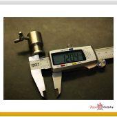 Thermometerdurchführung für BBQ-Drehspieß