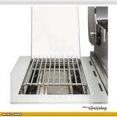 Allgrill Allrounder IV Edelstahl-Gasgrill mit Backburner & 2 Seitenkochern