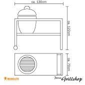 Monolith Grill Classic Rot inkl. Tisch & Zubehör